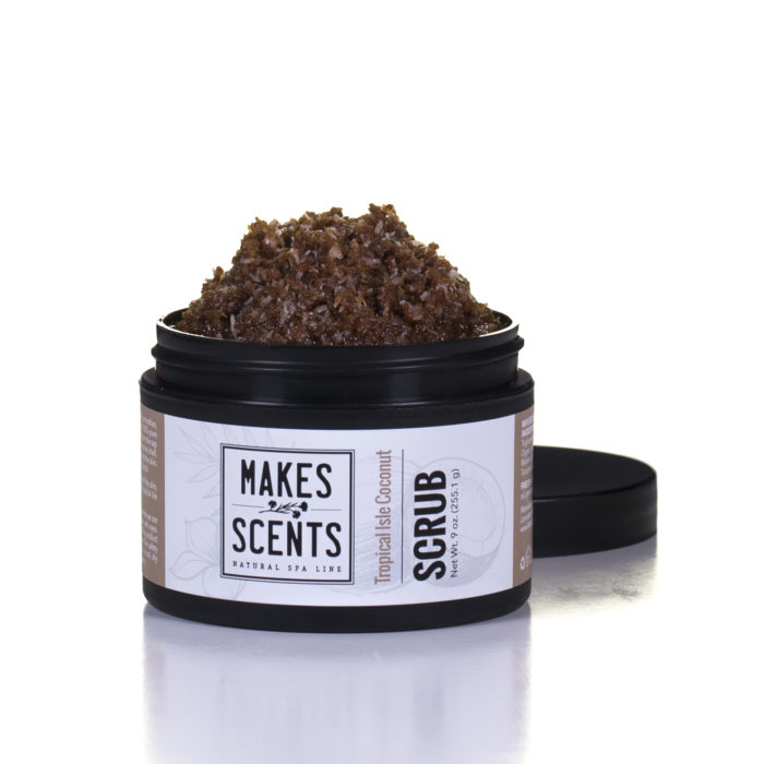 Tropical Isle Coconut Body Scrub - Vegan - Cruelty-Free - Makes Scents Natural Spa Line