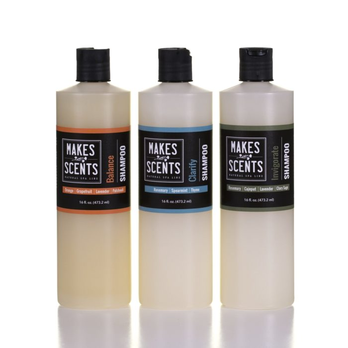 Balance - Clarify - Invigorate Shampoo - Sulfate-Free - Vegan - Natural - Cruelty-Free - Makes Scents Natural Spa Line
