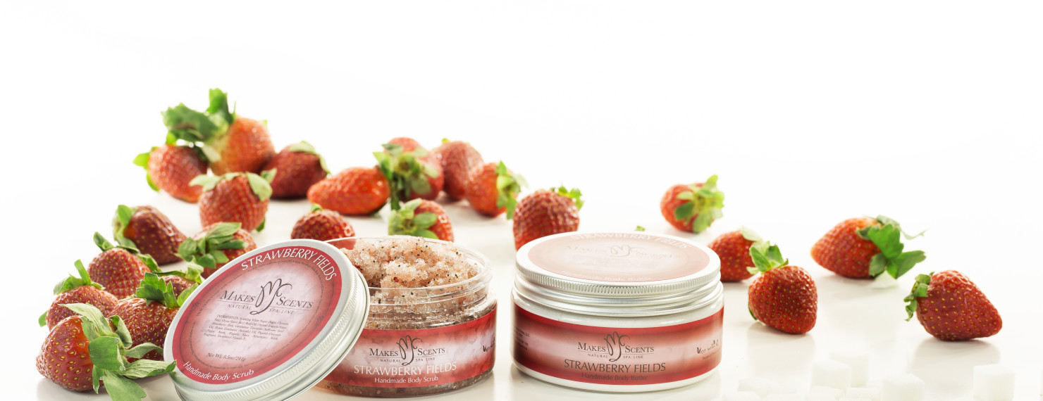 Strawberry Fields Body Line - Makes Scents Natural Spa Line