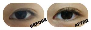 DIY Mascara - Before After