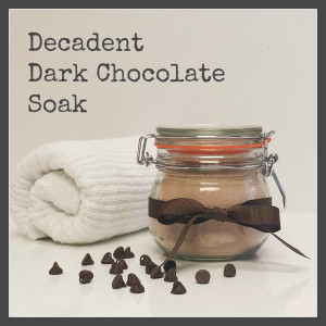 Dark Chocolate Soak - Makes Scents Natural Spa Line