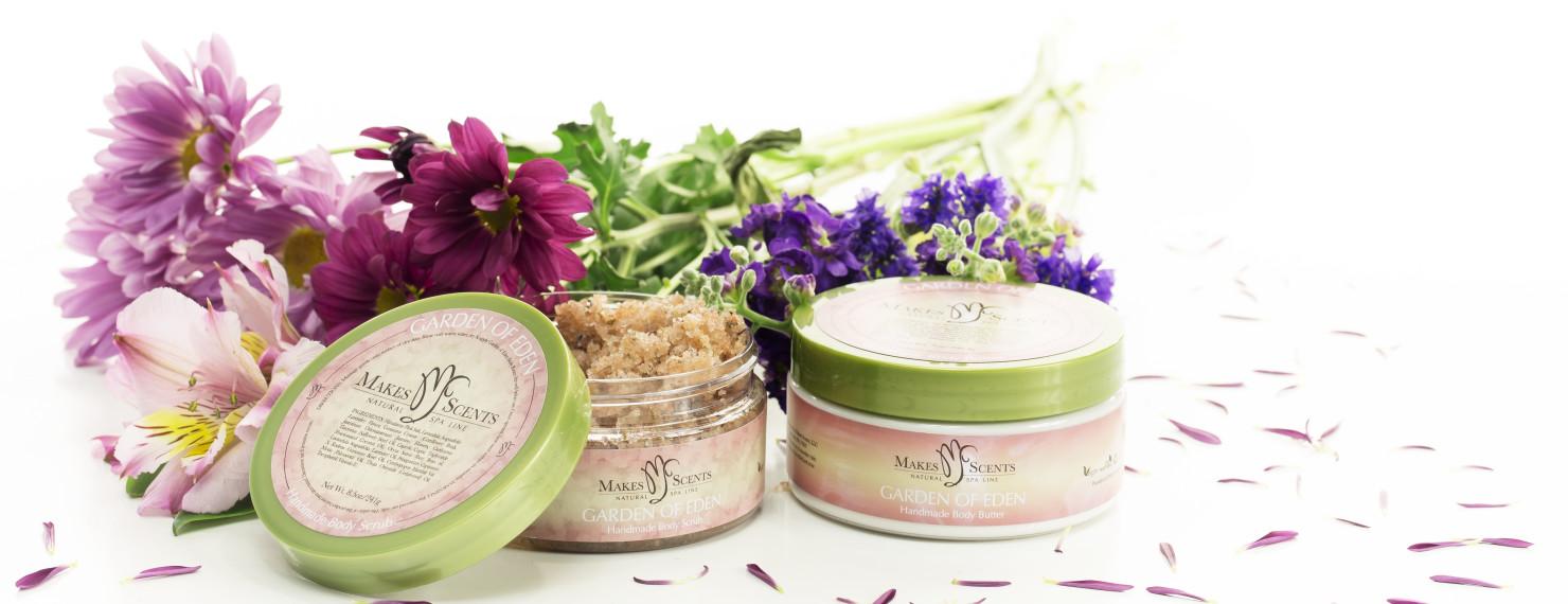 Garden of Eden Body Scrub & Body Butter - Makes Scents Natural Spa Line
