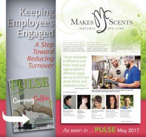 International Spa Association - Pulse Magazine May 2017 - Makes Scents Natural Spa Line