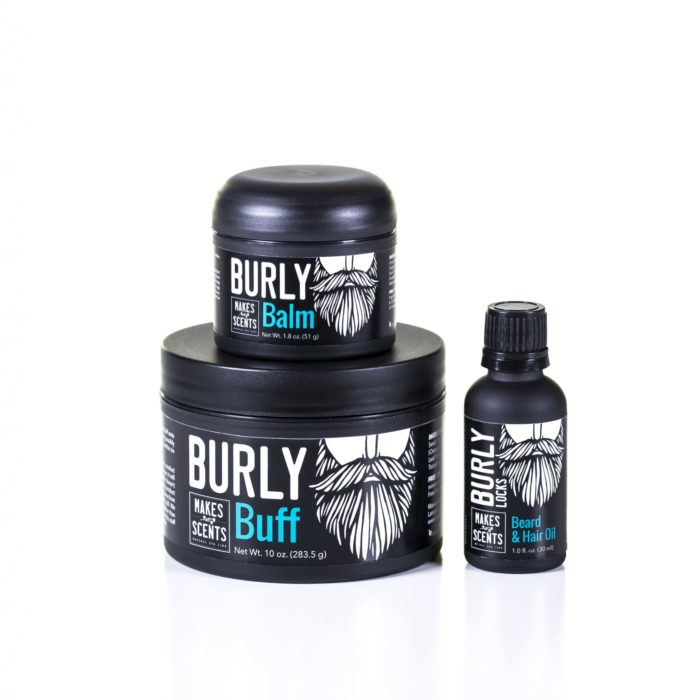Burly Balm - Burly Buff - Burly Locks - Vegan - Natural - Cruelty-Free - Makes Scents Natural Spa Line