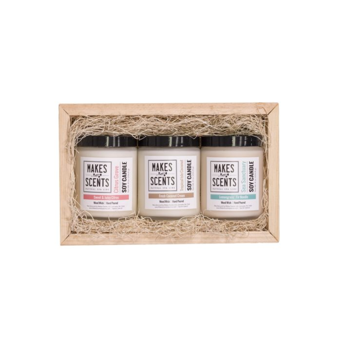Candle Trio - Makes Scents Natural Spa Line