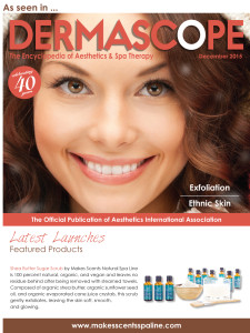 DERMASCOPE Magazinr December 2015 - Makes Scents Natural Spa Line