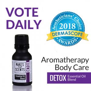 DERMASCOPE Magazine - Aestheticians' Choice Award Aromatherapy 2018 - Detox Essential Oil Blend