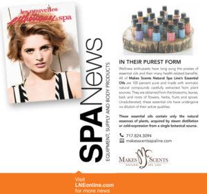 Les Nouvelles Esthétiques & Spa Magazine June 2016 - Makes Scents Natural Spa Line