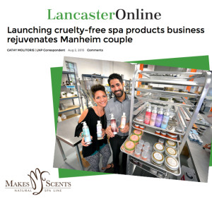 Lancaster Newspaper - Makes Scents Natural Spa Line