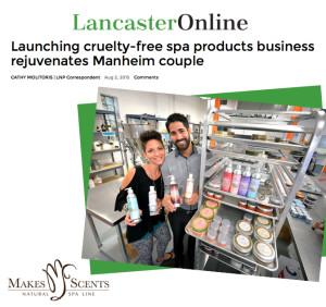 Lancaster Newspaper - Makes Scents Natural Spa Line