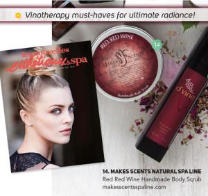Les Nouvelles Esthétiques & Spa Magazine October 2015 - Makes Scents Natural Spa Line