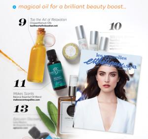 Les Nouvelles Esthétiques & Spa Magazine January 2016 - Makes Scents Natural Spa Line