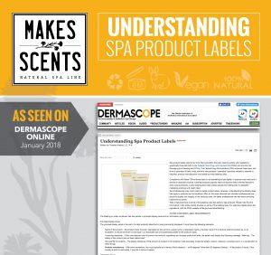 DERMASCOPE Magazine - January 2018 - Understanding Spa Product Labels