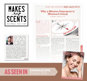 DERMASCOPE Magazine - October 2018 - Makes Scents Natural Spa Line