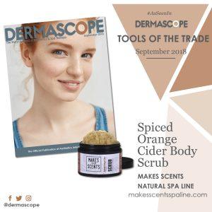 DERMASCOPE Magazine - September 2018 - Makes Scents Natural Spa Line
