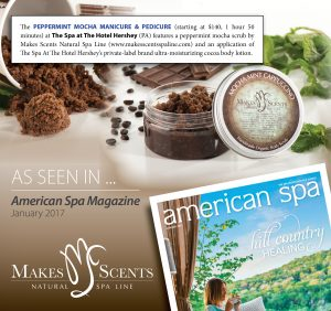 American Spa Magazine January 2017 - Makes Scents Natural Spa Line