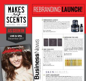 LNE & Spa Magazine - December 2017 - Makes Scents Natural Spa Line