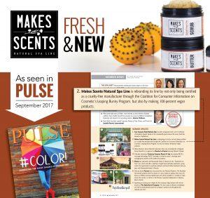 International Spa Association Pulse Magazine September 2017 - Makes Scents Natural Spa Line