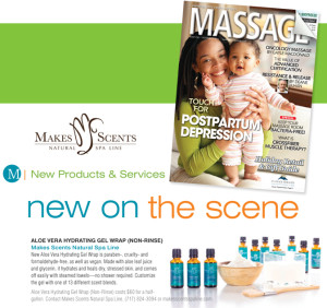 MASSAGE Magazine December 2015 - Makes Scents Natural Spa Line