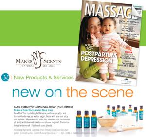 MASSAGE Magazine December 2015 - Makes Scents Natural Spa Line