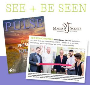 International Spa Association PULSE Magazine January 2016 - Makes Scents Natural Spa Line