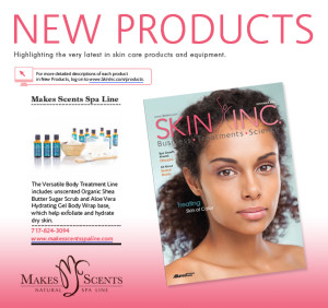 Skin Inc Magazine November 2015 - Makes Scents Natural Spa Line