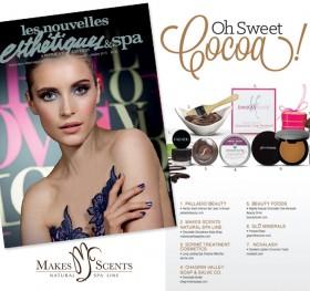 Les Nouvelles Esthétiques & Spa Magazine January 2015 - Makes Scents Natural Spa Line