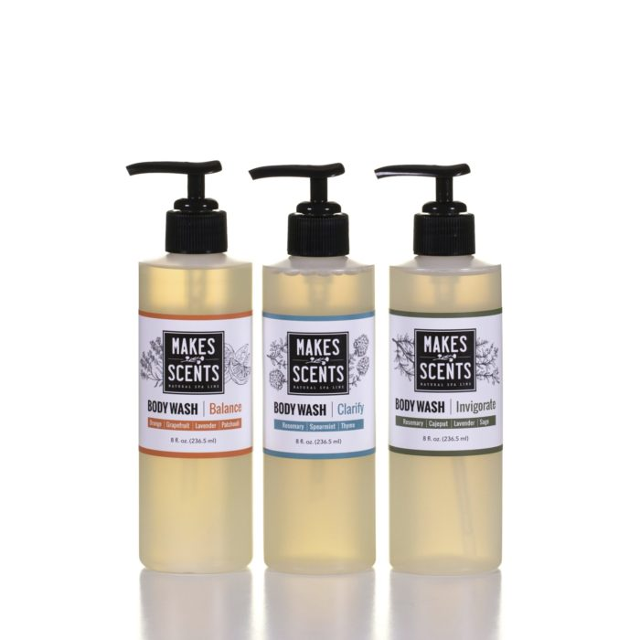 Balance - Clarify - Invigorate Body Wash- Vegan - Cruelty-Free - Sulfate-Free - Makes Scents Natural Spa Line