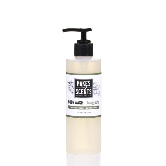 Invigorate Body Wash- Vegan - Cruelty-Free - Sulfate-Free - Makes Scents Natural Spa Line
