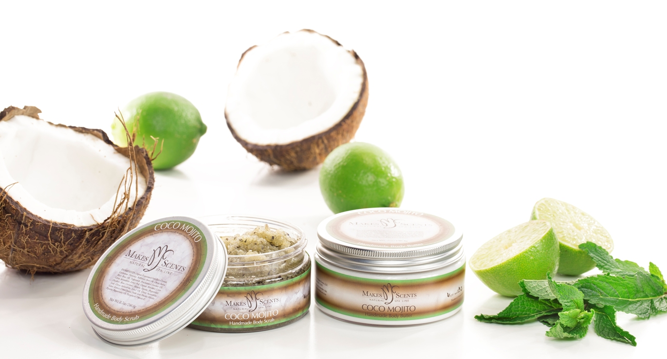 Coco Mojito Spa Product Line - Makes Scents Natural Spa Line