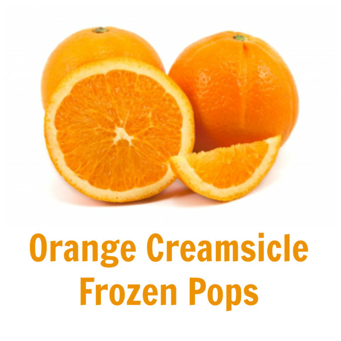 Orange Creamsicle Frozen Pops