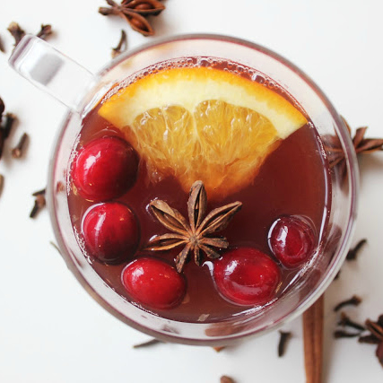 Warm Spiced Cranberry Tea