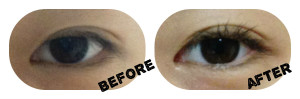 DIY Mascara - Before After