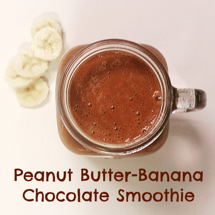 PB Banana Chocolate Smoothie