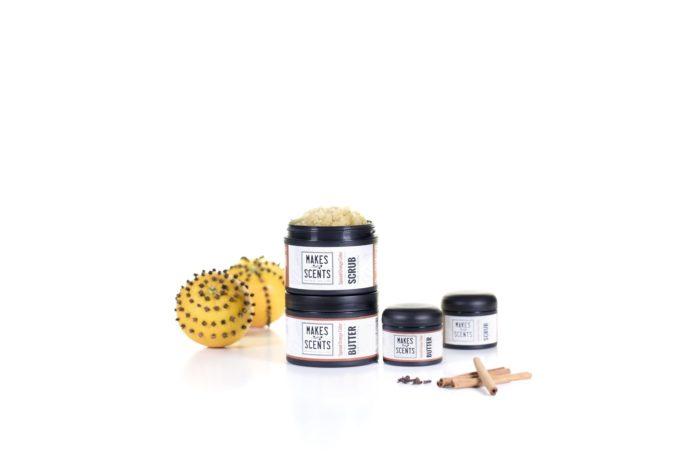 Spiced Orange Cider Body Scrub & Body Butter - Vegan - Cruelty-Free - Makes Scents Natural Spa Line