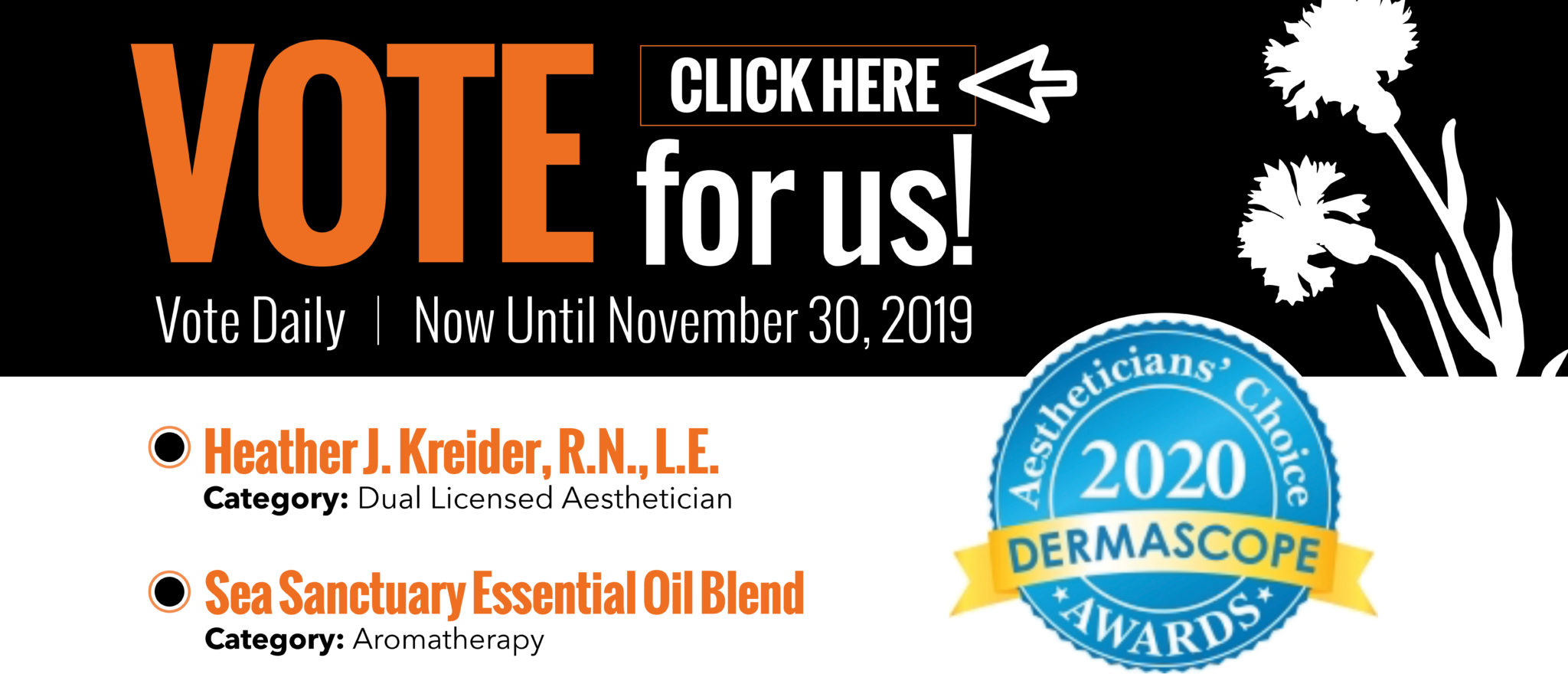 2020 Aestheticians' Choice Awards | DERMASCOPE Magazine | Makes Scents Natural Spa Line