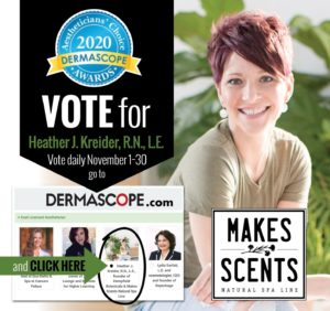 2020 Aestheticians' Choice Awards | Heather Kreider | Makes Scents Natural Spa Line