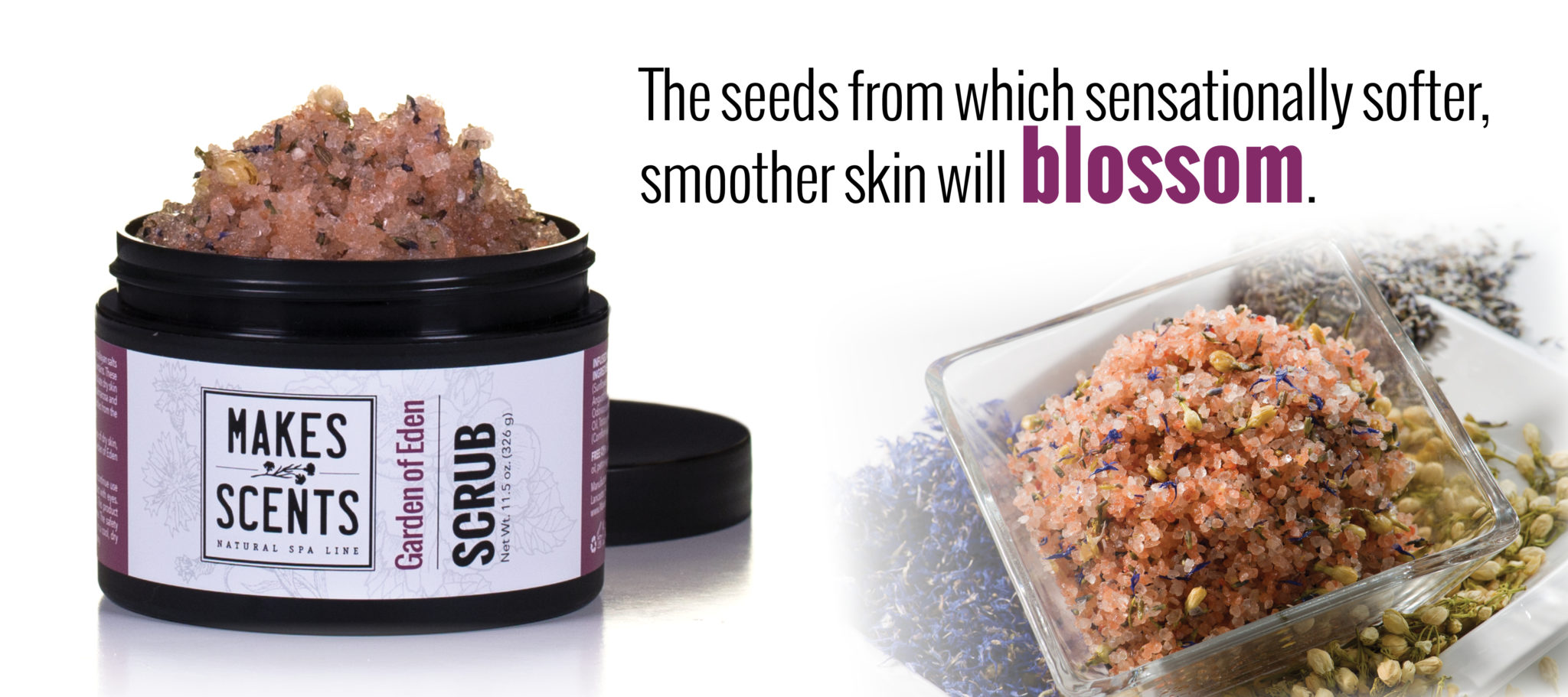 Spring Skincare - Garden of Eden   Makes Scents Natural Spa Line