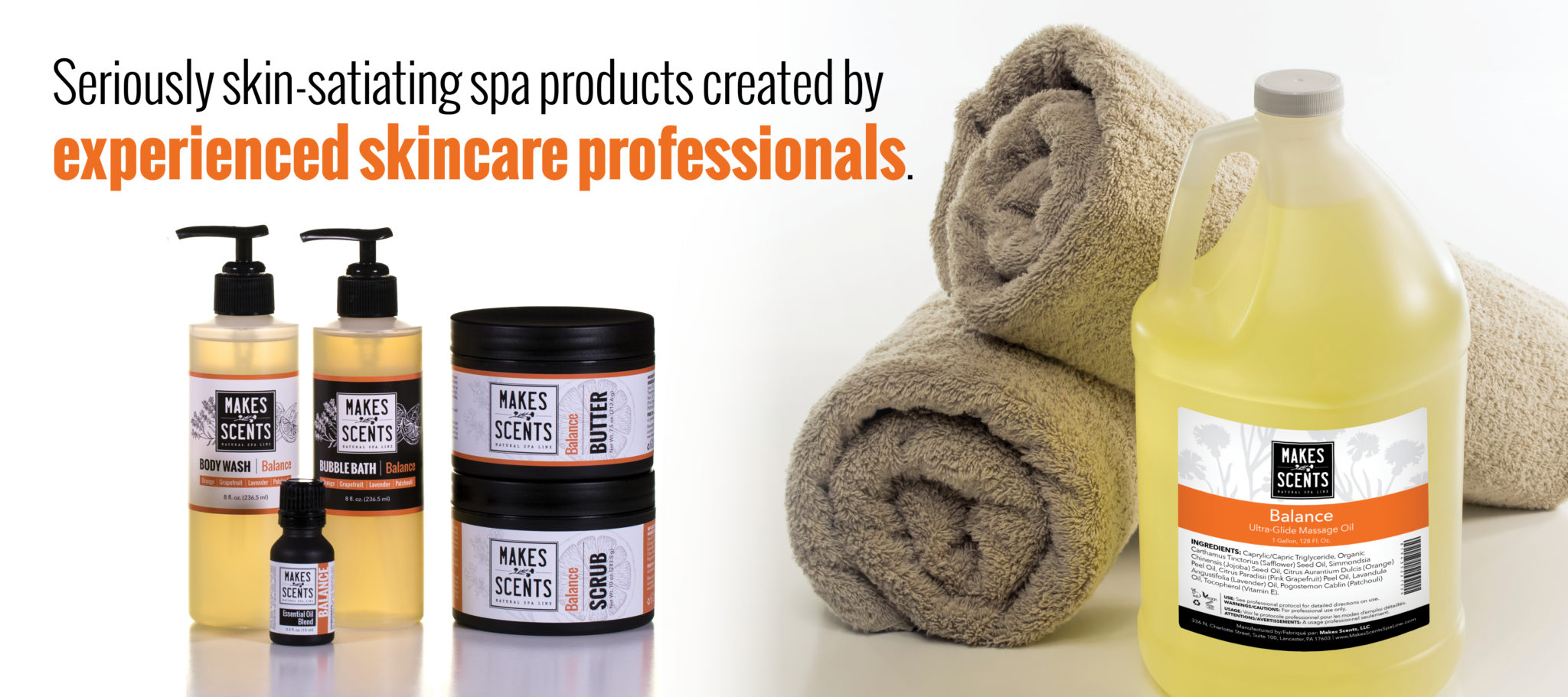 Professional Skincare Products | Makes Scents Natural Spa Line