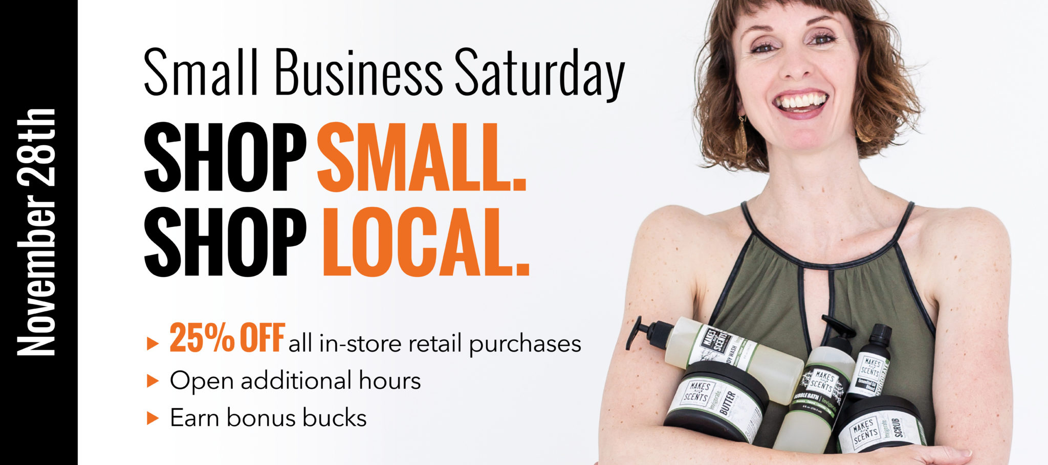 Shop Small Business Saturday | Makes Scents Natural Spa Line