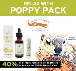 Relax with Poppy Pack | Poppy the Groundhog | Hempfield Botanicals